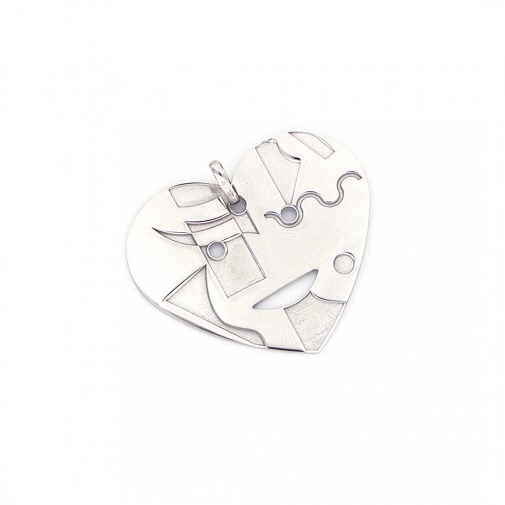 Collana in argento 925 con cuore Huntington